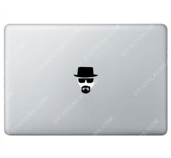 Sticker Apple Walter White Heisenberg Breaking Bad pour Macbook - Taille : 55x61