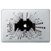 Stickers Apple New York pour Macbook - Taille : 269x184 mm