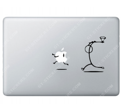 Sticker Apple Tueur à la hache pour Macbook - Taille : 157x105 mm