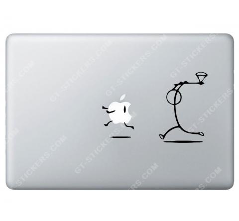 Sticker Apple Tueur à la hache pour Macbook - Taille : 157x105 mm
