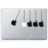 Sticker Apple  Réaction en chaine pour Macbook - Taille : 240x125 mm
