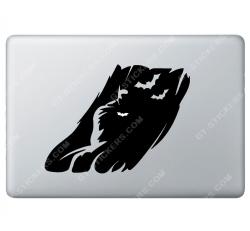 Sticker Apple Ombre de Batman pour Macbook - Taille : 209x157 mm