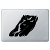 Sticker Apple Ombre de Batman pour Macbook - Taille : 209x157 mm