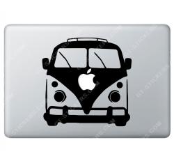 Sticker Apple Combi Volkswagen VW Baba cool pour Macbook - Taille : 191x189 mm