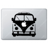 Sticker Apple Combi Volkswagen VW Baba cool pour Macbook - Taille : 191x189 mm