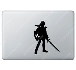 Stickers Apple ZELDA Nintendo link pour Macbook - Taille : 135x104 mm