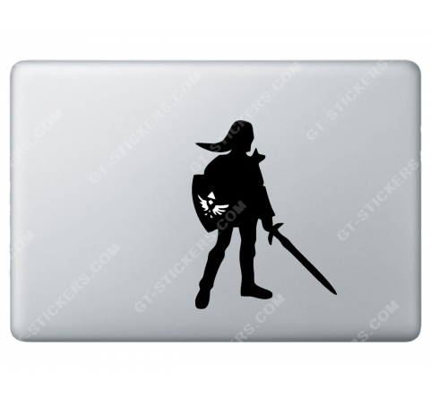Stickers Apple ZELDA Nintendo link pour Macbook - Taille : 135x104 mm