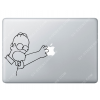 Sticker Apple  Homer Simpson pour Macbook - Taille : 149x146 mm