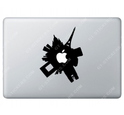 Stickers Apple Ville Ronde pour Macbook - Taille : 197x152 mm