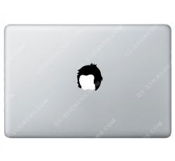 Sticker Apple Rockeur pour Macbook - Taille : 50x54 mm