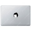 Sticker Apple  Rockeur pour Macbook - Taille : 50x54 mm