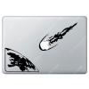 Sticker Apple  météore pour Macbook - Taille : 281x191 mm