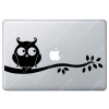 Sticker Apple  Hibou pour Macbook - Taille : 306x115 mm
