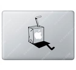 Sticker Apple Brique de jus de fruits pour Macbook - Taille : 160x120 mm