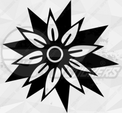 Sticker Fleurs Tribal