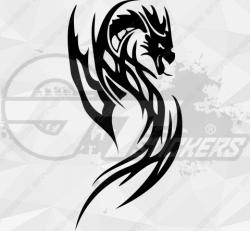 Sticker Dragon Tribal 2