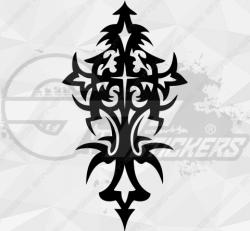 Sticker Croix Tribal