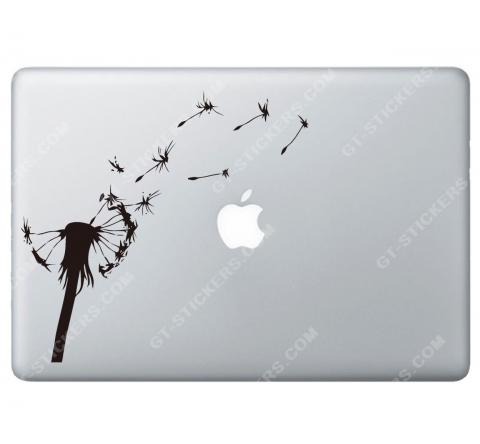 Sticker Apple  Fleur Pissenlit pour Macbook - Taille : 174x164 mm