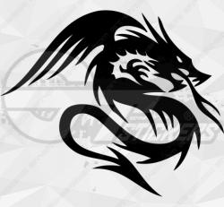 Sticker Dragon Tribal