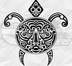 Sticker Tortue Tribal 1