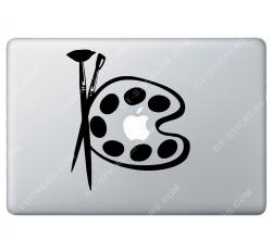 Sticker Apple Palette de peinture Artiste pour Macbook - Taille : 180x157 mm