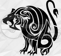 Sticker Tribal Lion 2