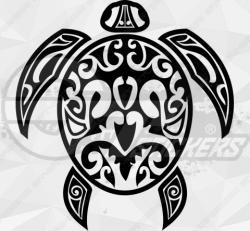 Sticker Tribal Tortue