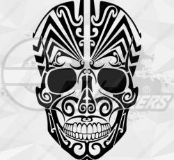 Sticker Tribal Skull