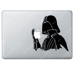 Sticker Apple Starwars Dark Vador pour Macbook - Taille : 177x172 mm