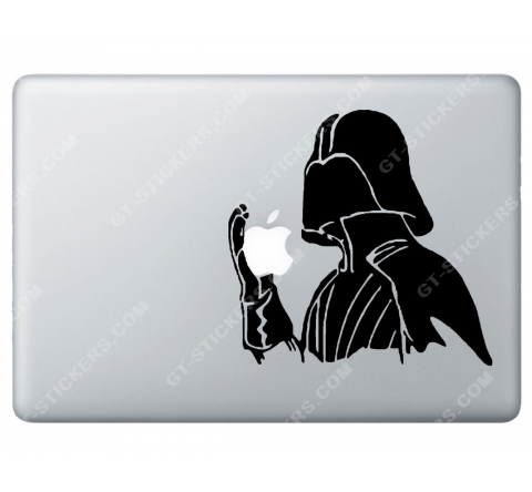 Sticker Apple Starwars Dark Vador pour Macbook - Taille : 177x172 mm