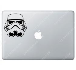 Sticker Apple Stormtrooper StarWars pour Macbook - Taille : 102x98 mm