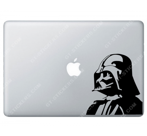 Sticker Apple  Star Wars Dark Vador pour Macbook - Taille : 153x141 mm