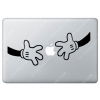 Sticker Apple Disney Mains Mickey pour Macbook - Taille : 232x94 mm