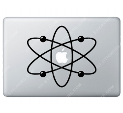 Sticker Apple Atome pour Macbook - Taille : 202x181 mm