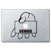 Sticker Apple Genius Bar pour Macbook - Taille : 194x183 mm