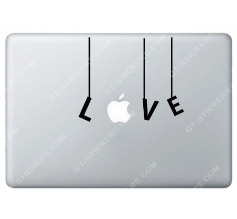 Sticker Apple Love pour Macbook - Taille : 151x121 mm