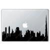 Sticker Apple Panorama de dubaï pour Macbook - Taille : 298x80 mm