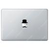 Sticker Apple  Gentleman à moustaches pour Macbook - Taille : 69x55 mm