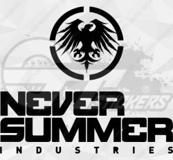 Sticker Never Summer Industries