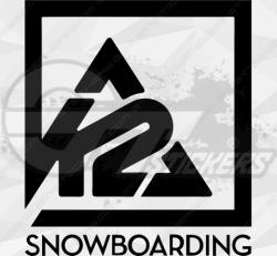 Sticker K2 Snowboarding 3