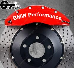 Kit 4x Stickers Bmw Performance pour étriers de frein