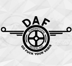 Stickers Daf Go Fuck Your Vabis
