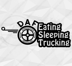 Stickers Daf Eating Sleeping Trucking