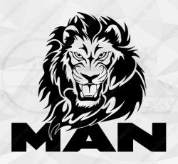 Stickers Man Gros Lion