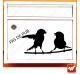 Sticker déco de boite aux lettres - oiseaux sur une branche STOP PUB