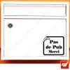 Sticker déco de boite aux lettres - Stop pas de pub