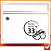 Sticker déco de boite aux lettres - attention Stop pas de pub