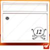 Sticker déco de boite aux lettres à personnaliser avec votre numéro de rue - style renaissance arabesques