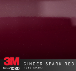 Film Covering 3M 1080 Brillant - Gloss Cinder Spark Red