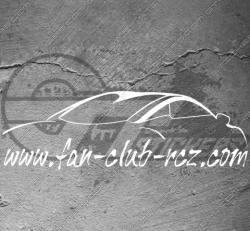 Sticker officiel Fan Club RCZ, taille au choix